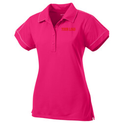 - Ladies Contrast Stitch Micropique Sport Wick® Polo