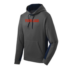 - Sport Wick ® Fleece Colorblock Hooded Pullover