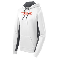 - Ladies Sport Wick ® Fleece Colorblock Hooded Pullover