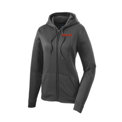 - Ladies Sport Wick ® Fleece Full Zip Hooded Jacket