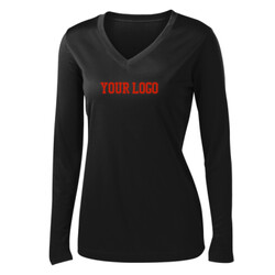 - Ladies Long Sleeve PosiCharge ® Competitor™ V Neck Tee