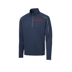 - Sport Wick ® Stretch 1/2 Zip Colorblock Pullover